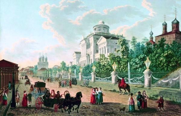 Пашков дом. Литография Делабарта. 1795 г.