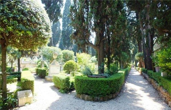 1. Аллеи на кладбище